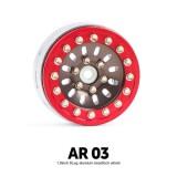 1.9 AR03 6 Lug Aluminum beadlock wheels (2) (Titanium gray) - GM70377