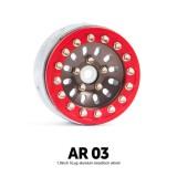 1.9 AR03 5 Lug Aluminum beadlock wheels (2) (Titanium gray) - GM70387
