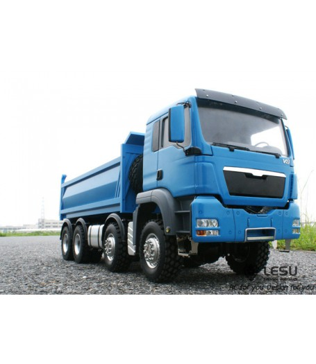 LESU 1/14 Full Metal 8x8 Hydraulic Dump Truck RTR, (Cab is plastic) EHD70000, Unpainted Version