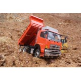 LESU 1/14 Full Metal 6x6 Hydraulic Dump Truck RTR, (Cab is plastic) EHD69000, Unpainted Version