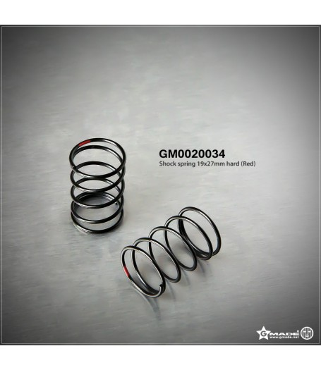Shock Spring 19x27mm Hard Red (2) GM0020034