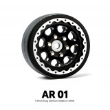 1.9 AR01 6 Lug Aluminum beadlock wheels (2) GM70334