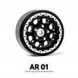 1.9 AR01 5 Lug Aluminum beadlock wheels (2) GM70344