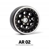 1.9 AR02 6 Lug Aluminum beadlock wheels (2)GM70354