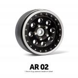 1.9 AR02 5 Lug Aluminum beadlock wheels (2)GM70364