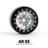 1.9 AR03 6 Lug Aluminum beadlock wheels (2)GM70372