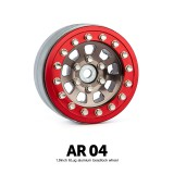 1.9 AR04 6 Lug Aluminum beadlock wheels (2)GM70397