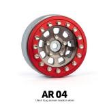 1.9 AR04 5 Lug Aluminum beadlock wheels (2)GM70407