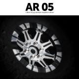 1.9 AR05 6 Lug Aluminum beadlock wheels (2)GM70414