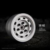 1.9 SR02 beadlock wheels (Gloss white) (2) GM70176